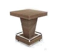 میز بار مربع تمام بافت حصیری