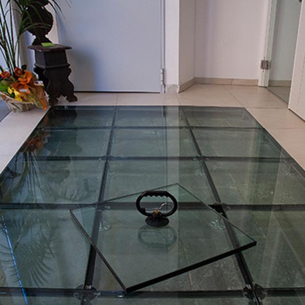 کف کاذب شیشه ای - 40*40