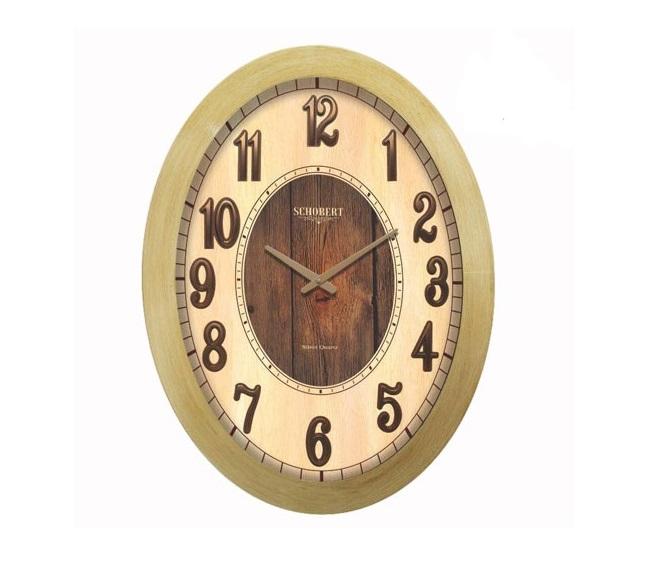 ساعت دیواری چوبی طلایی - 6105