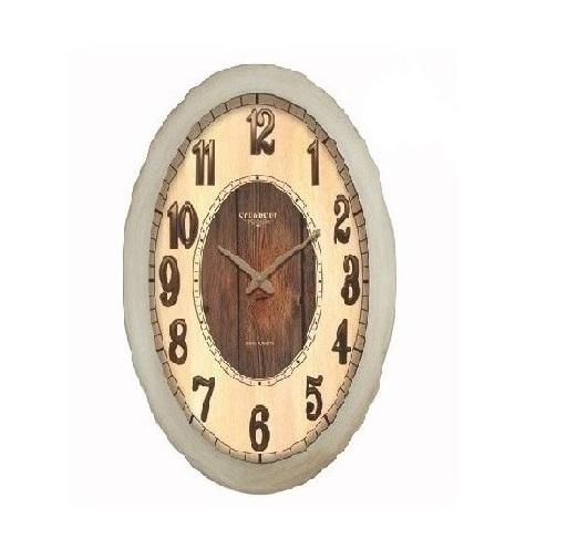 ساعت دیواری چوبی استخوانی - 6105
