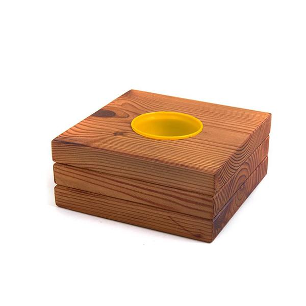 گلدان چوبی مدل کومه