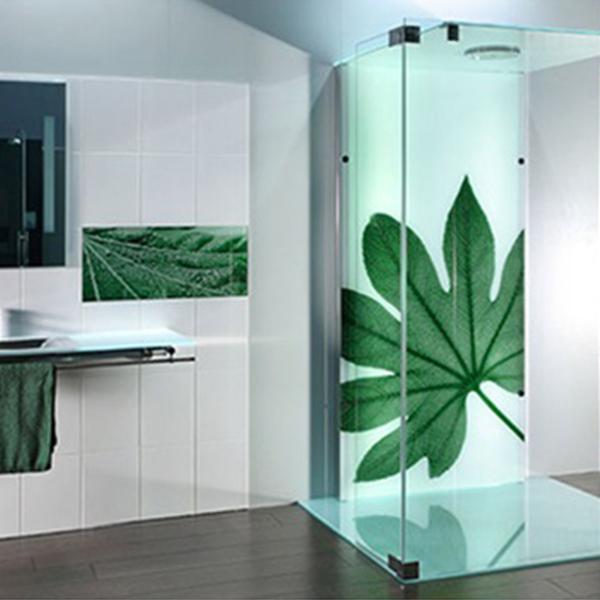 شیشه چاپی طرح برگ