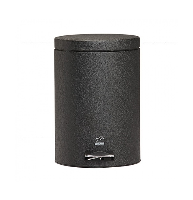 سطل زباله پدالدار 14 لیتری مشکی چروک
