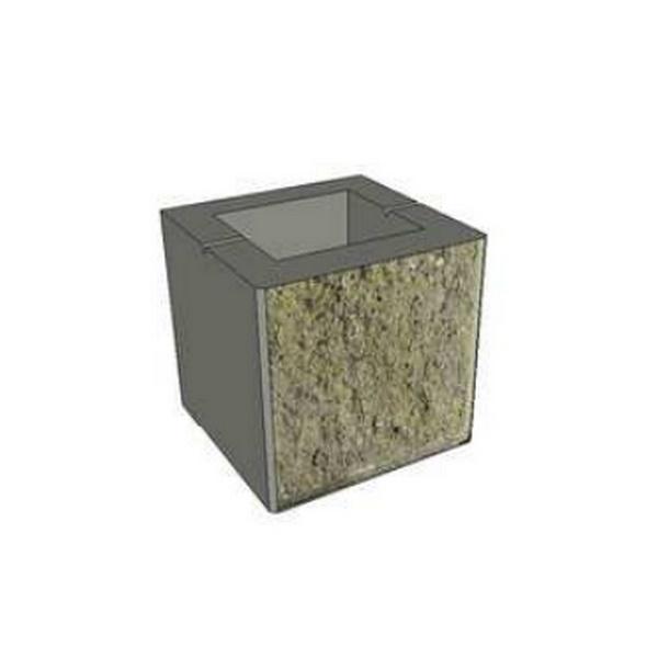 بلوک بتنی نیمه یک رو نما - 200*200*200
