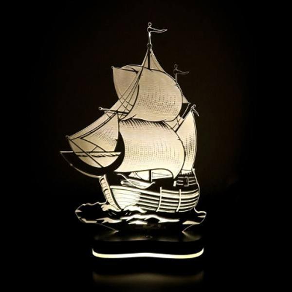 چراغ خواب سه بعدی طرح کشتی