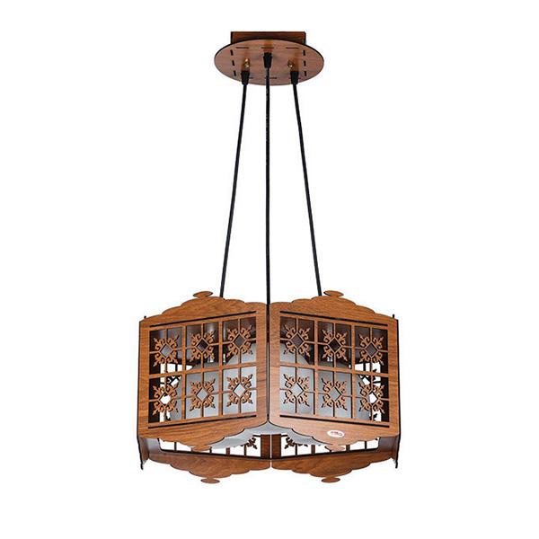 چراغ آویز چوبی - N1503.3H-BR