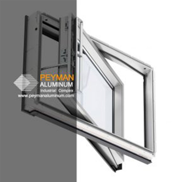 پنجره آلومینیومی - pivot