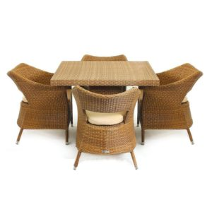 ست میز و صندلی حصیری مدل کازابلانکا