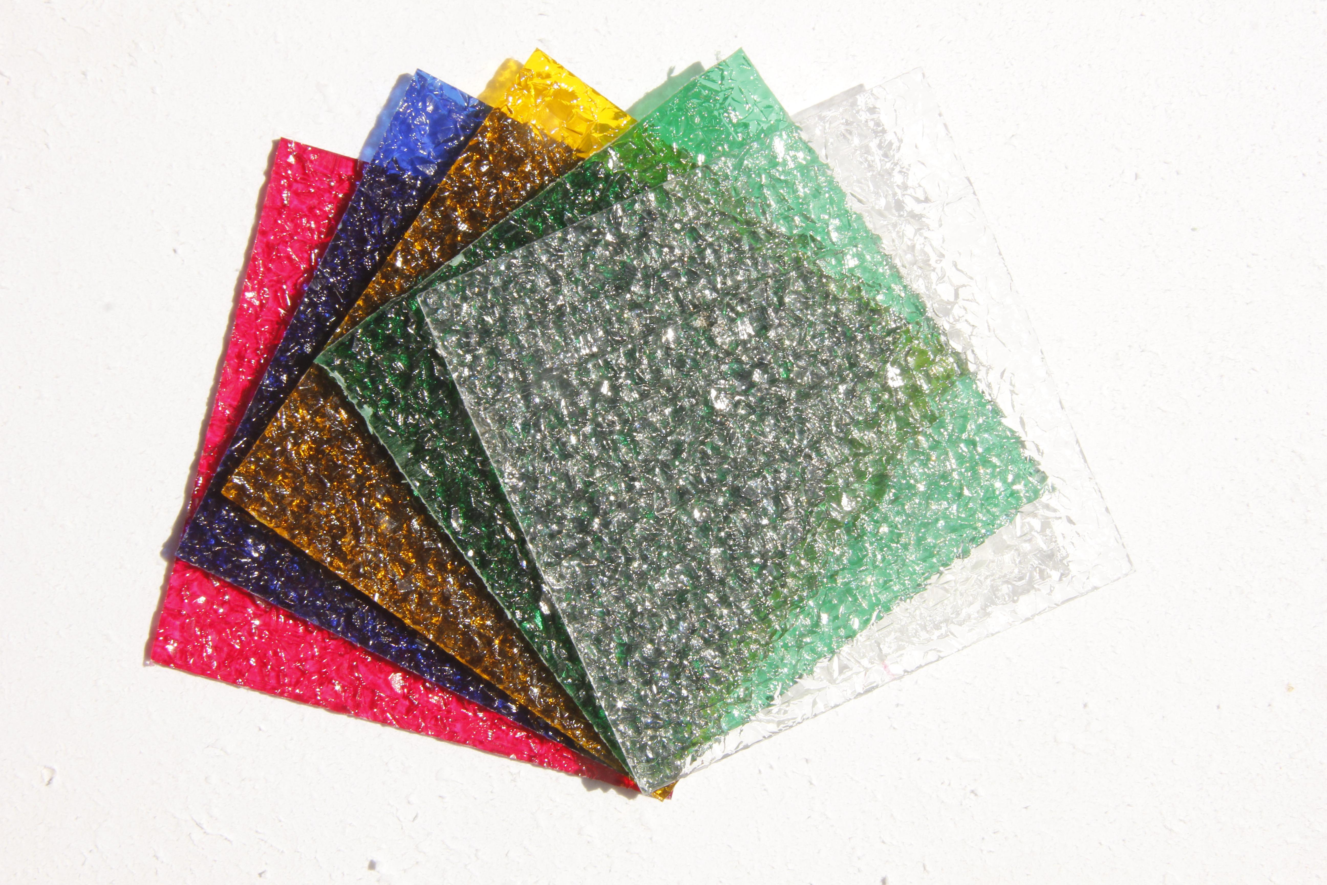 کریستال ساده - رنگی - طرح دار