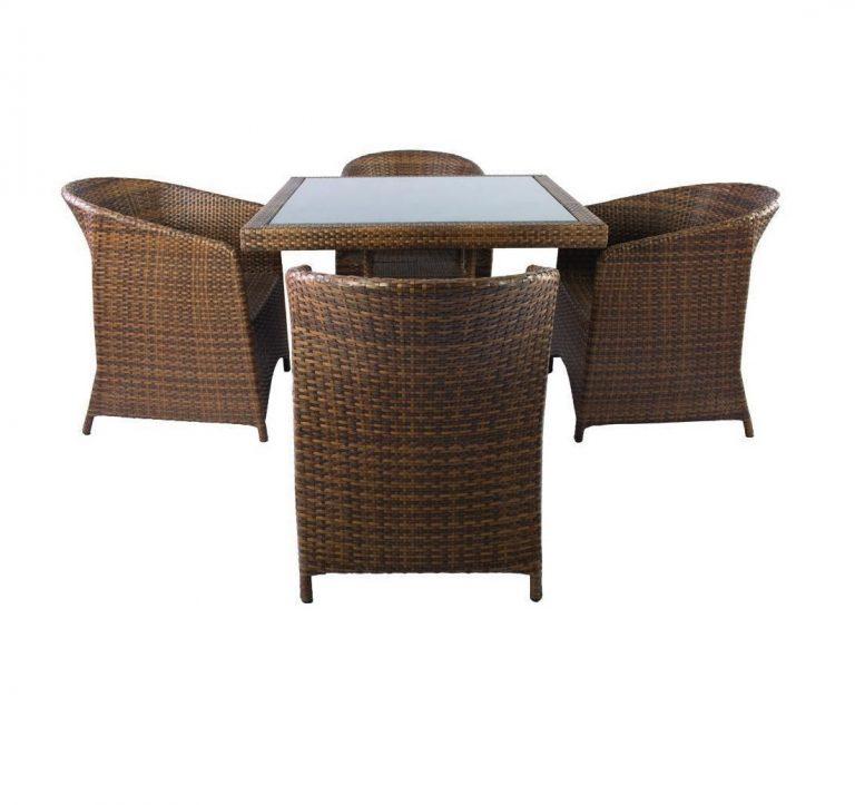 ست میز و صندلی حصیری مدل ارکیده