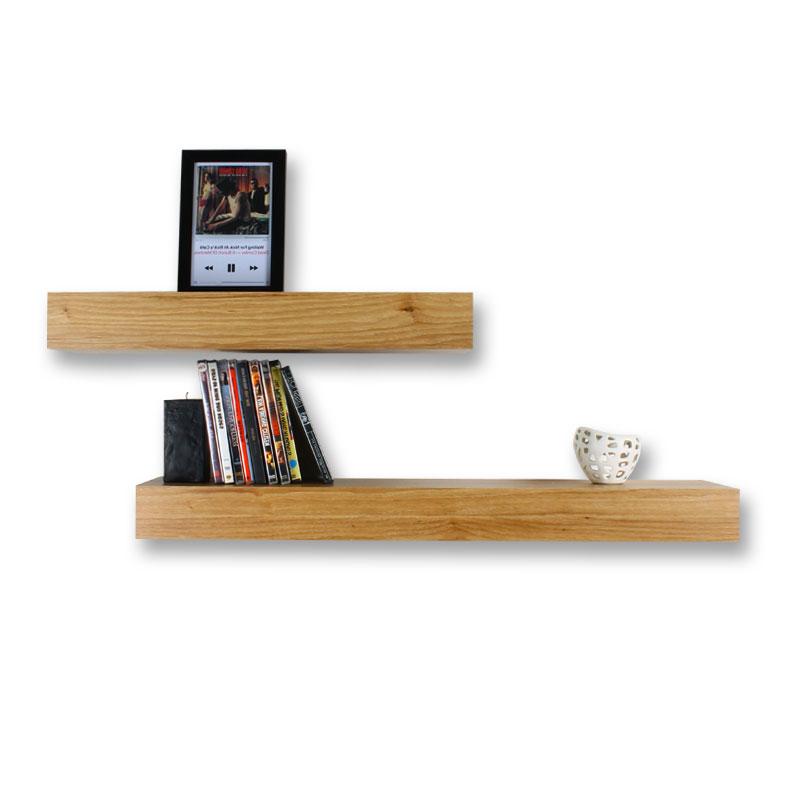 شلف دیواری دو تکه طرح چوب