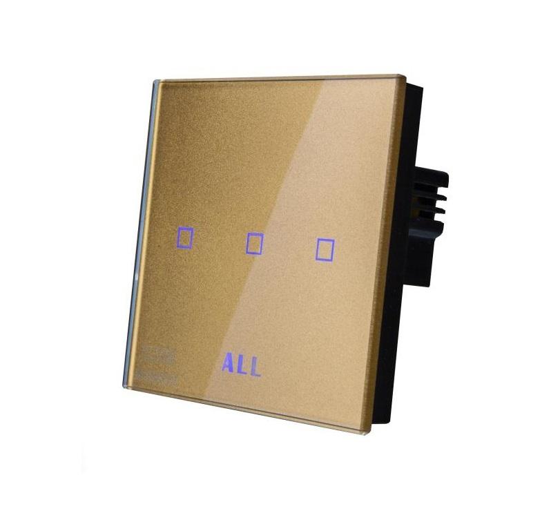کلید لمسی کریستال - ACE 3Gang