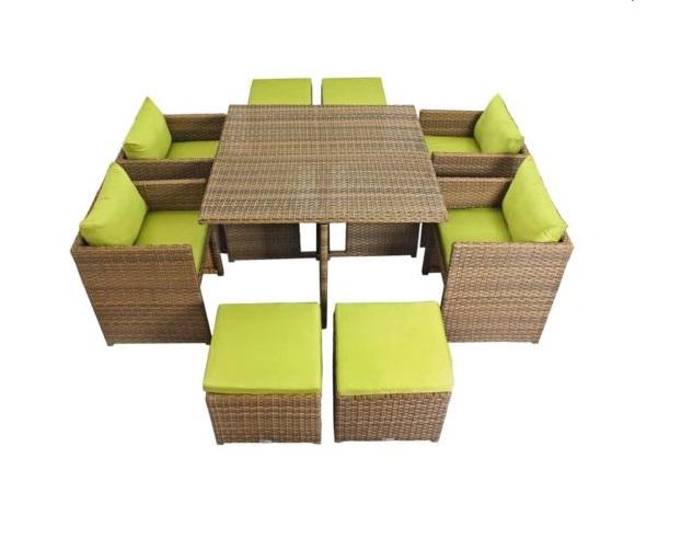ست میز و صندلی حصیری مدل ویکتوریا