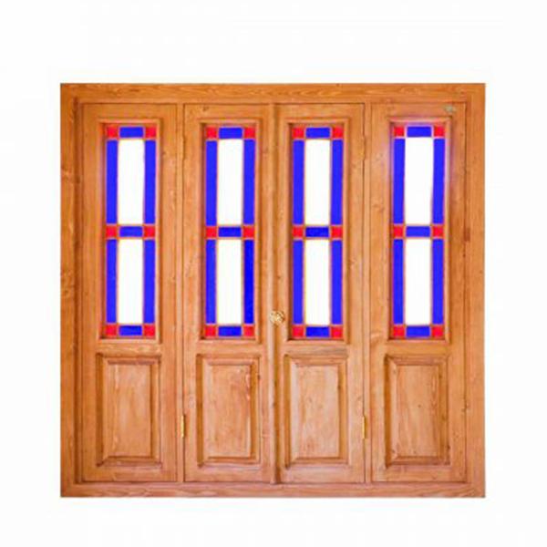پنجره چوبی اُرُسی شیشه رنگی - W203