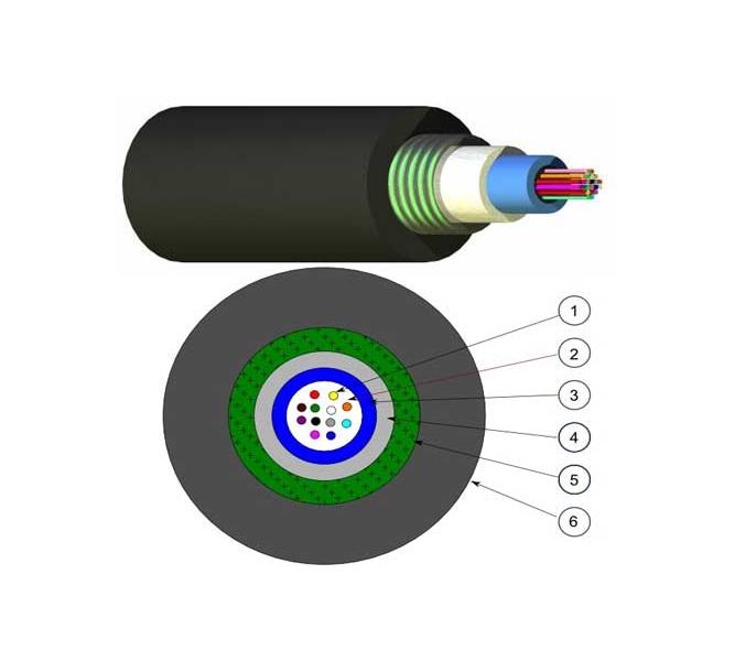 کابل فیبر نوری - UC 8x OS2 PE N164.183