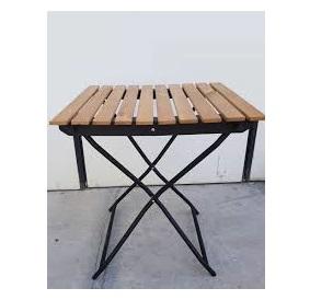 میز فلزی تاشو صفحه چوبی