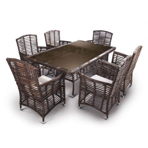 ست میز و صندلی حصیری مدل بالی
