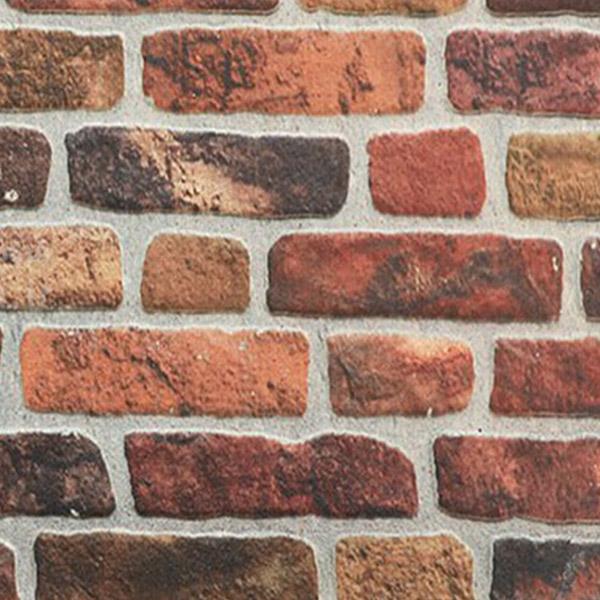دیوار پوش طرح آجر رنگی
