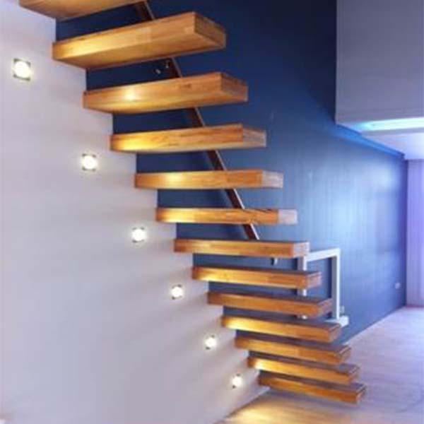 پله پیش ساخته معلق چوبی - 1303