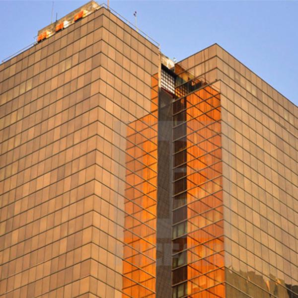 شیشه رفلکس طلایی