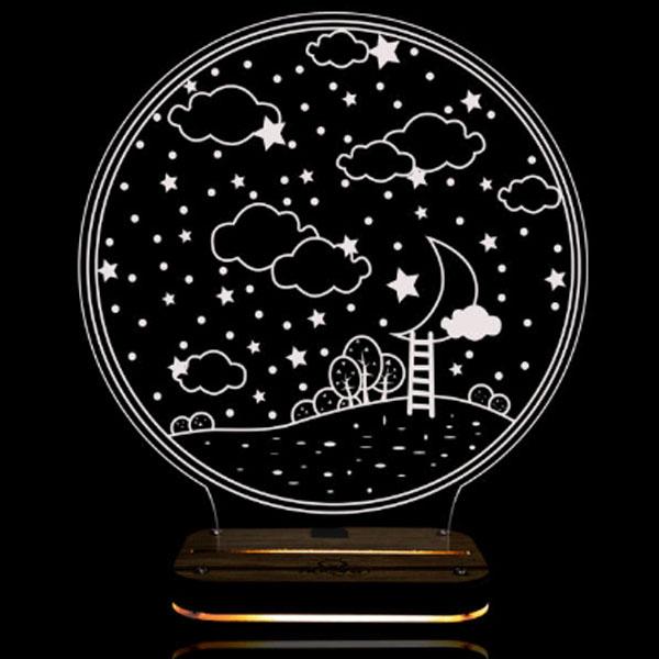 چراغ خواب طرح شب پر ستاره