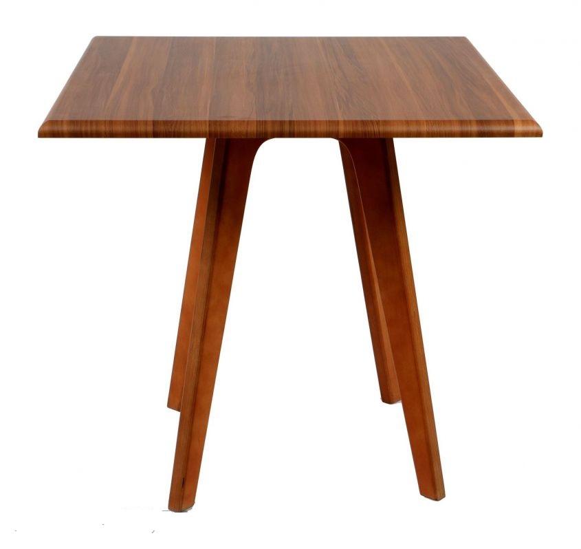 میز رستورانی چهارگوش پایه چوبی - T19