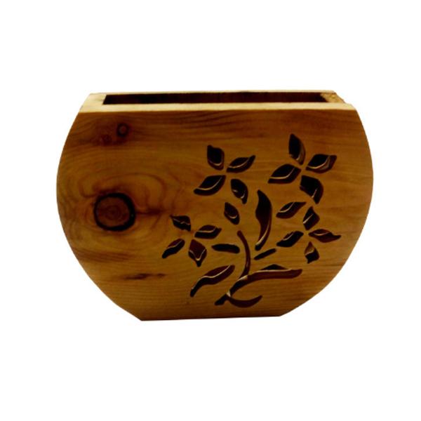 گلدان چوبی خراطی
