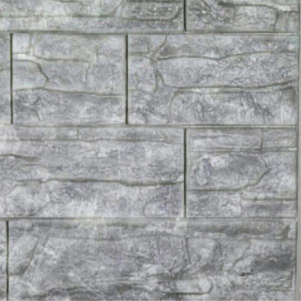 دیوارپوش فومی طرح سنگ آنتیک خاکستری