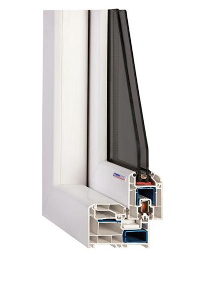 پروفيل پنجره wintech - w260 single rail